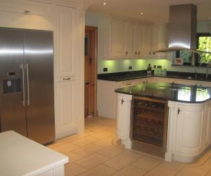 photo of beige brown kitchen and furniture wine rack