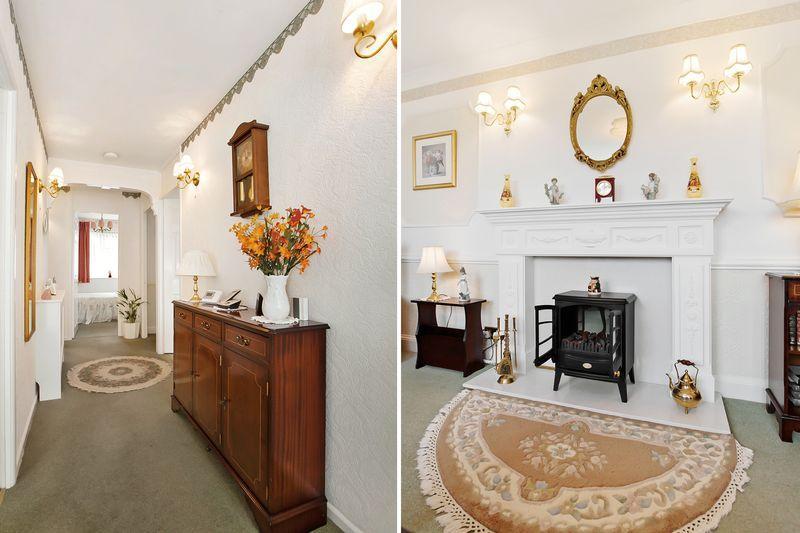 hallway/fireplace