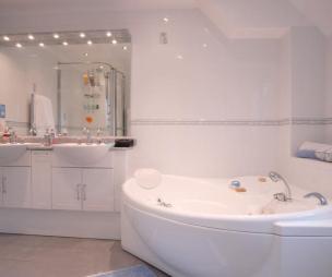 photo of pink white bathroom ensuite ensuite bathroom