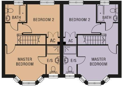 Plots 1 and 2 floor