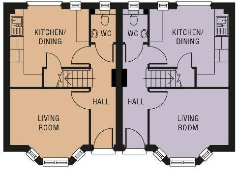 Plots 1 and 2 floor