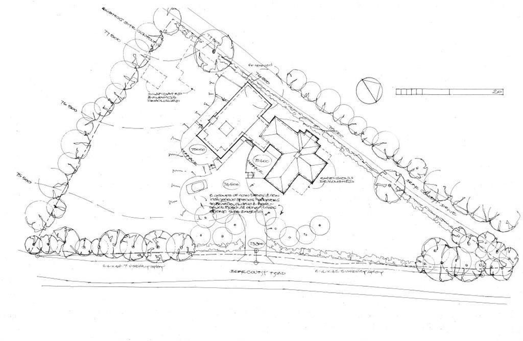 Site plan - lodge