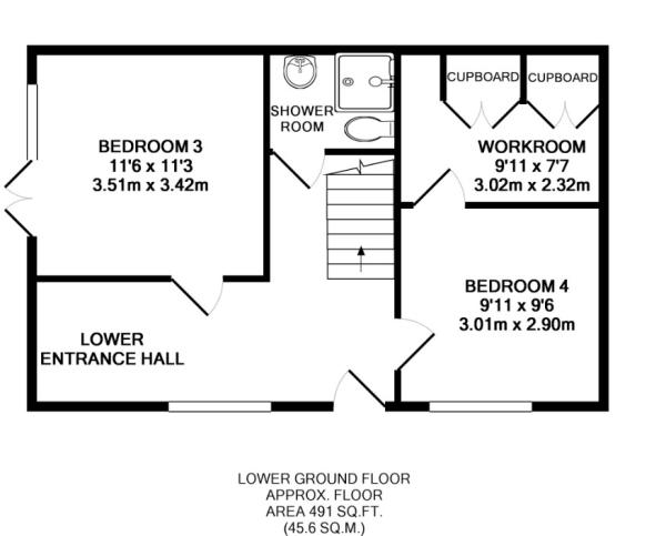 Floor plan - Lower f