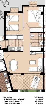 2 bedroom Apartment For Sale: 2nd Floor, Phase 1, Hacienda Riquelme Golf Resort, REF – HR131