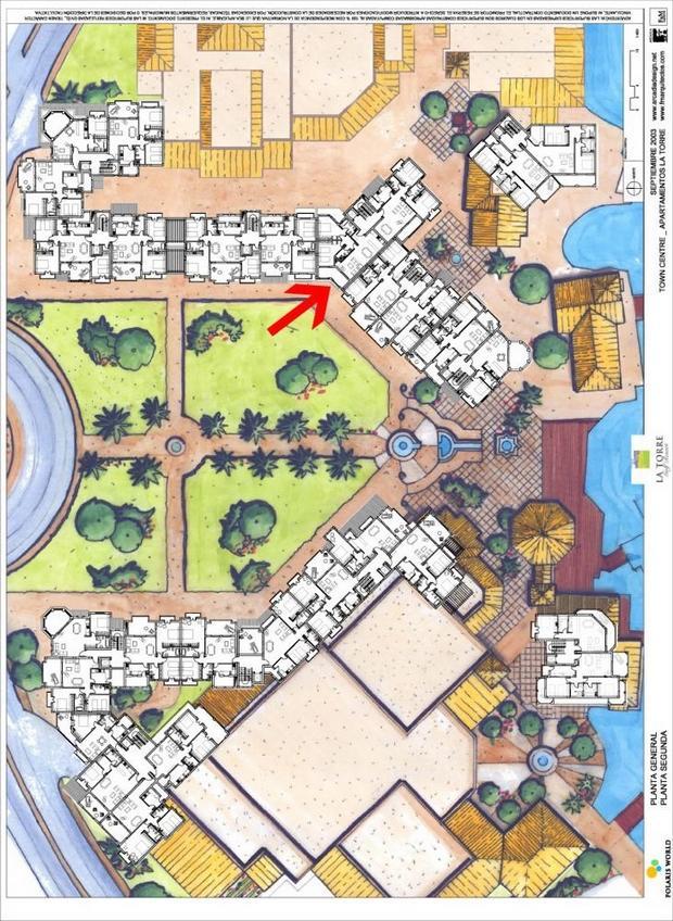 3 bedroom Apartment For Sale: 2nd Floor, Town Centre, La Torre Golf Resort, REF – LAS137