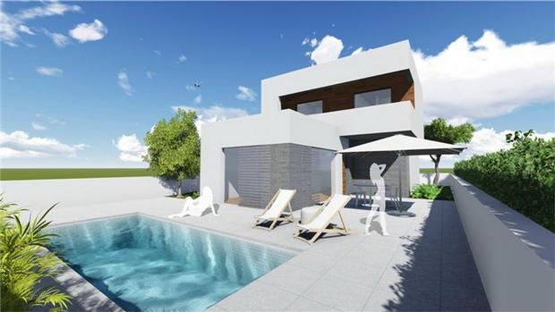 3 bedroom Villa For Sale: Modern Detached Villas, Lo Pagan, Santiago De La Ribera, REF – SDL02