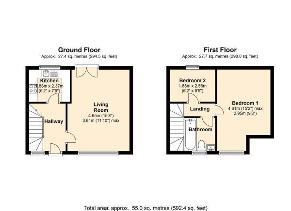 2 bedroom house to rent in marlborough road wood green n22 for Marlborough house floor plan