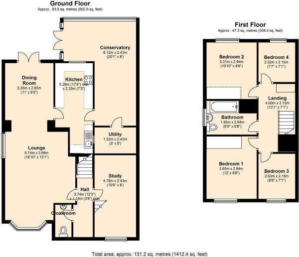 4 bedroom detached house for sale in highgrove road for Highgrove house floor plan