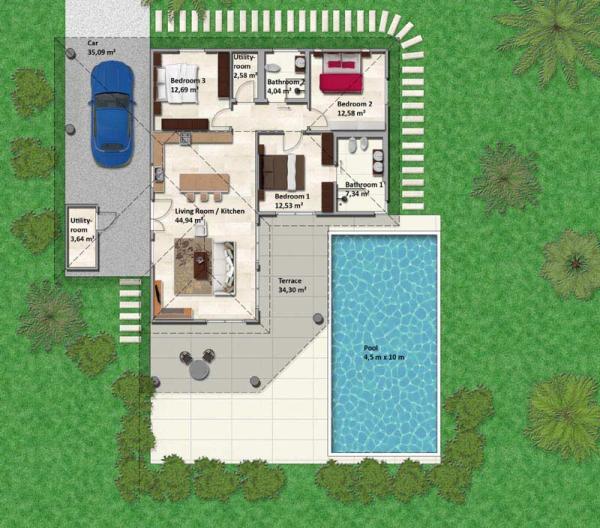Villa Klara Plan