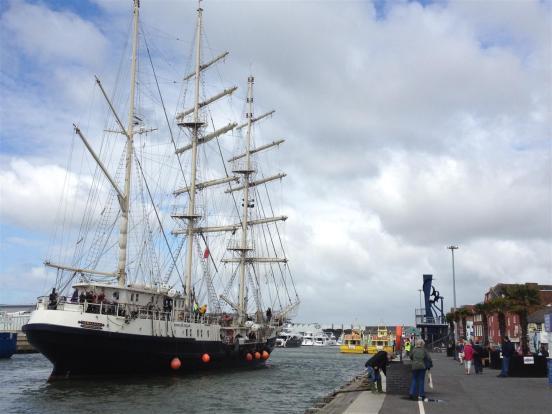 Tall ship on Quay
