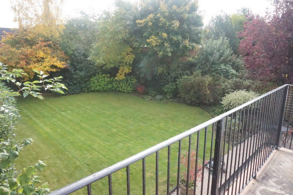 Rear view of garden from balcony