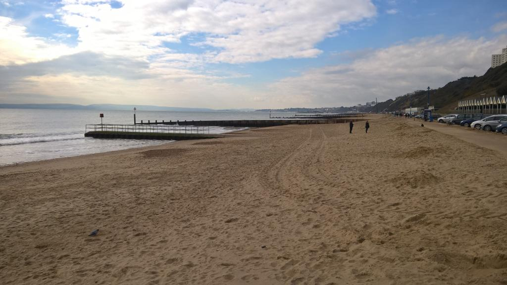 Boscombe Beach -westwards