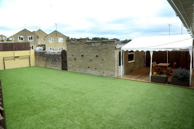 Rear garden and decked patio