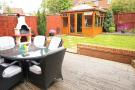 Decking BBQ station and summer house