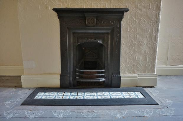 Traditional cast iron fireplace in reception room 2. Leeds Road, Blackpool Estate agents. YOPA. Traditional fire.JPG