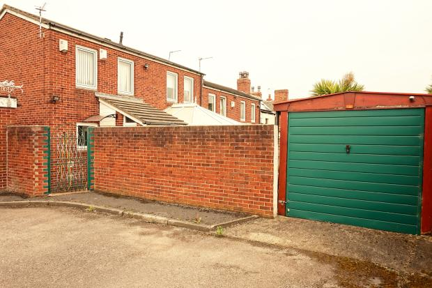 Rear of Property and Garage