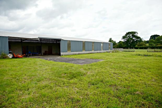View of American style barn & Helipad
