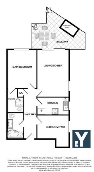 Floor Plan - Flat 2 Beechwood Court