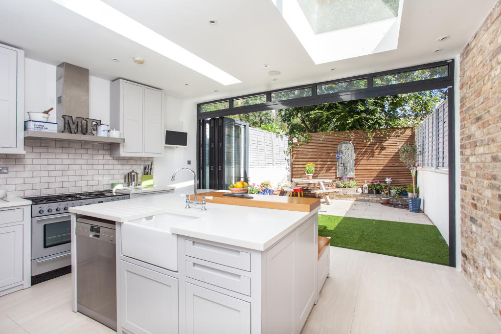 Extended Kitchen With Bi-Fold Doors