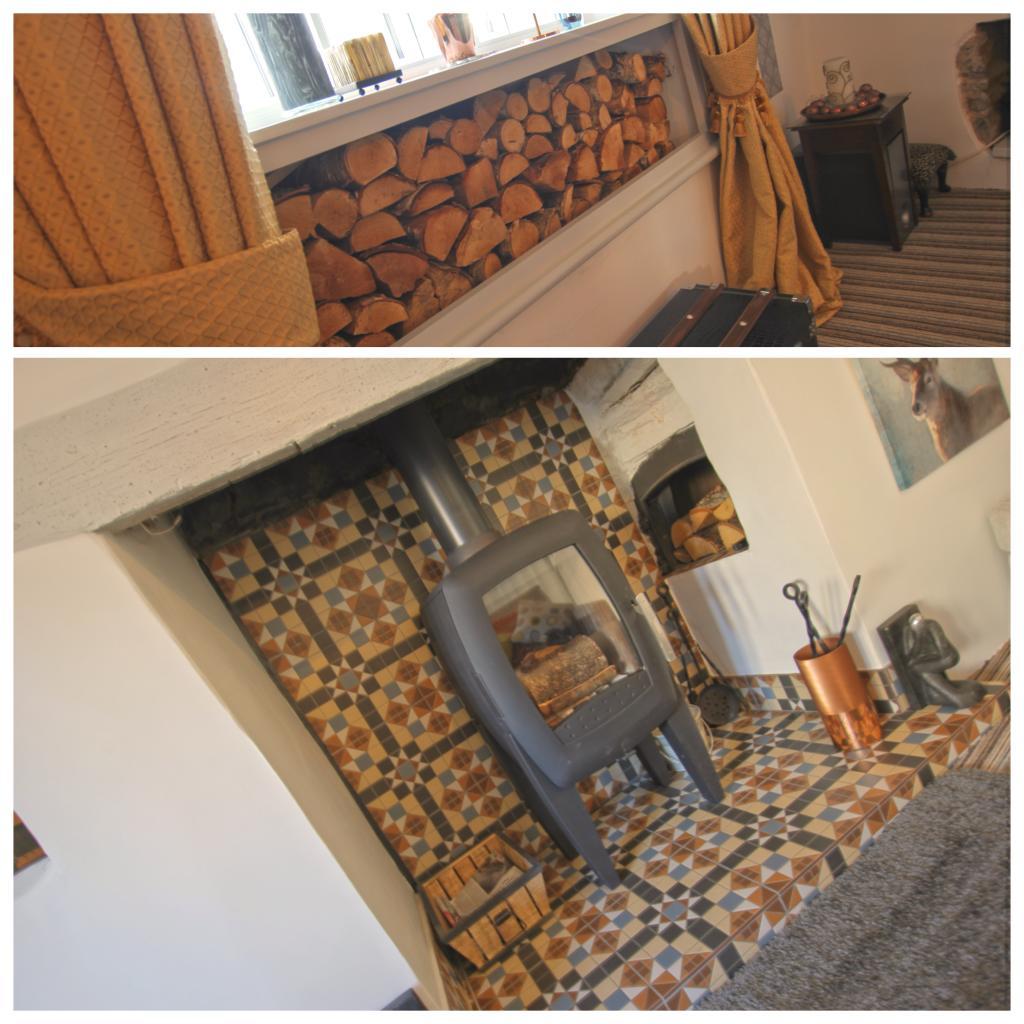 Log Burner and Log Store