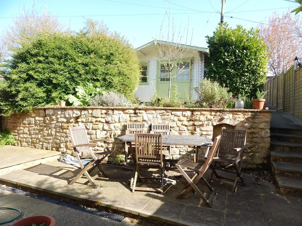 Rear garden and Office