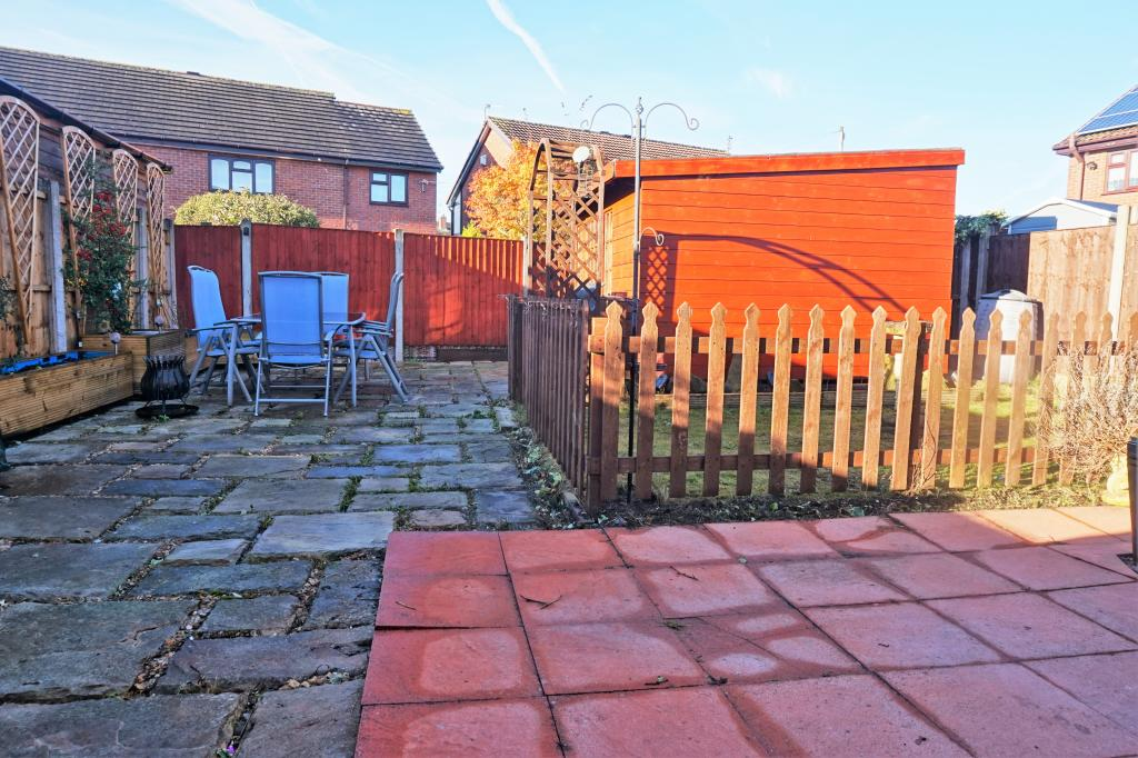 Rear Garden and work shed