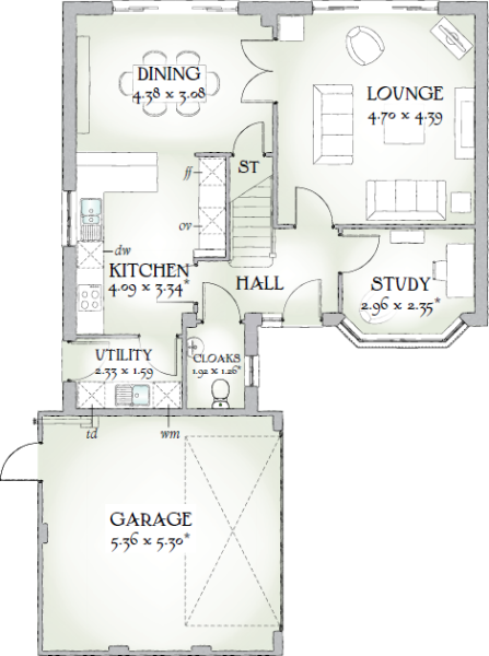 4 bedroom detached house for sale in the toppings Canterbury floor plan