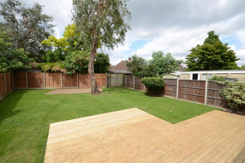 New lawn and decking