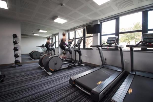Great on-site gym
