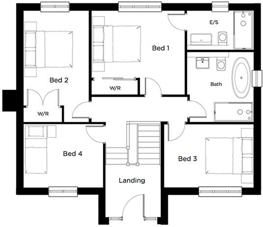 Tiverton kitchens and bathrooms - 4 Bedroom Detached House For Sale In Aubyns Wood Rise