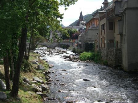 River in village