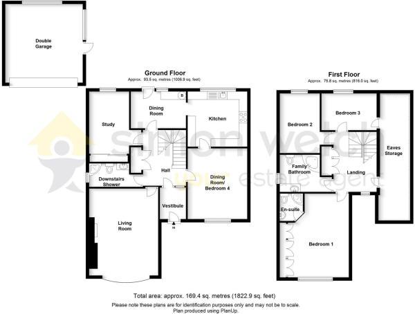 Floor plan with gara