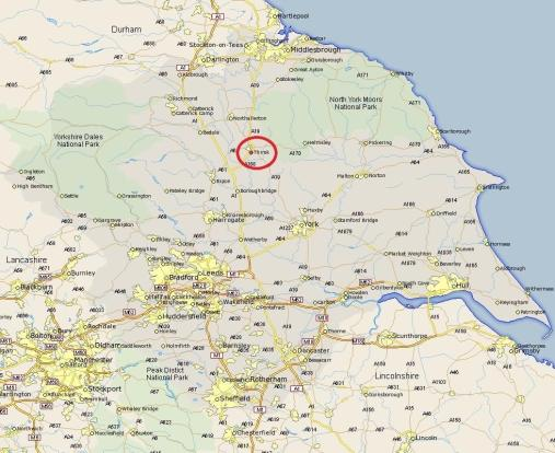 Thirsk location map