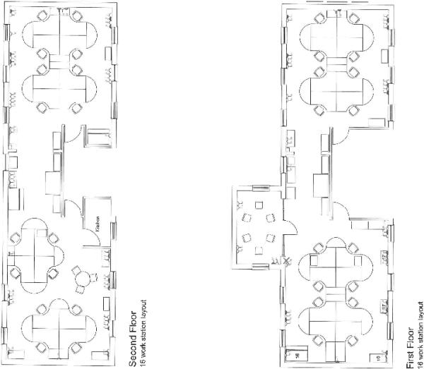 Upper floors plan