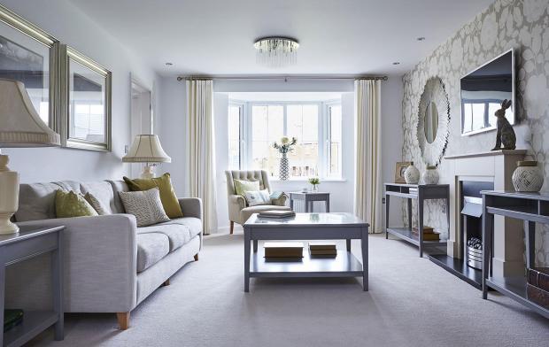 Bowbrook Meadows Alnwick lounge with bay window