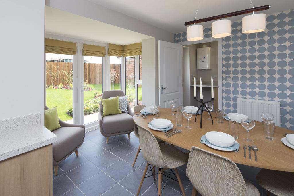 Typical Tavistock dining and family area with glazed bay and French doors