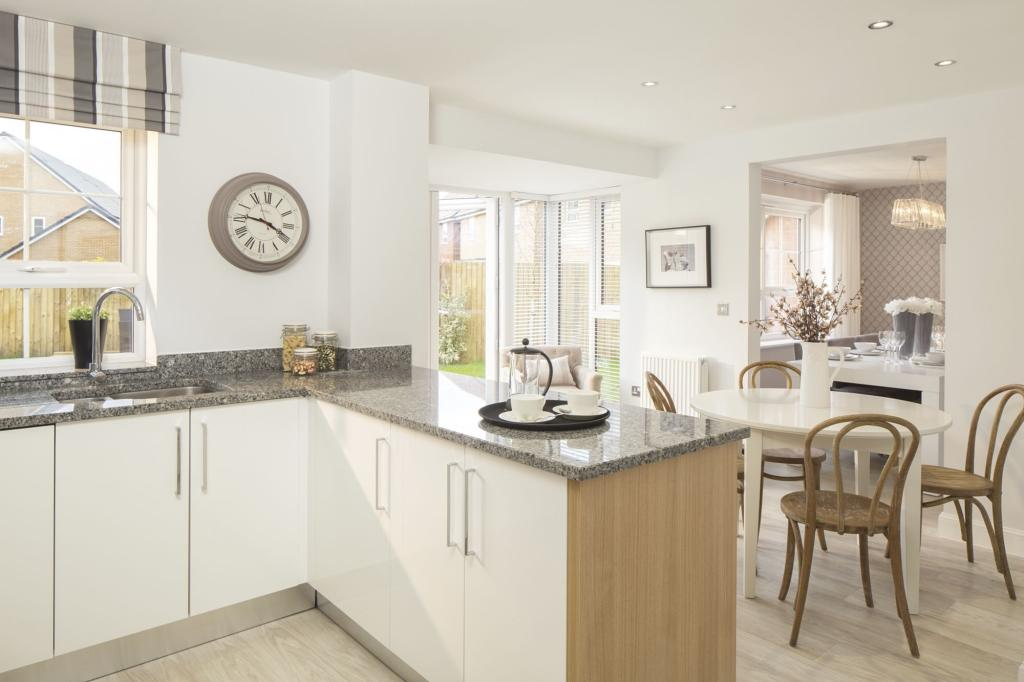 Typical Cambridge fitted kitchen leading to the breakfast area