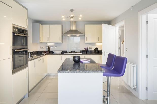 Typical Warwick fitted kitchen with breakfast area