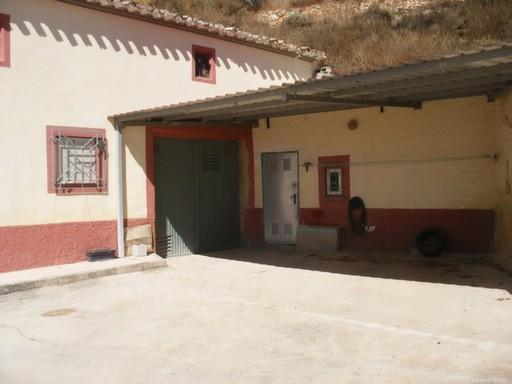Porche and garage