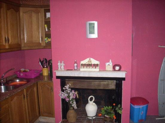 Fire place in Kitchen