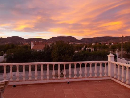 Large terrace.