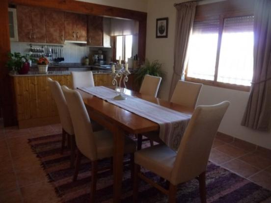 Dining area with woodburner