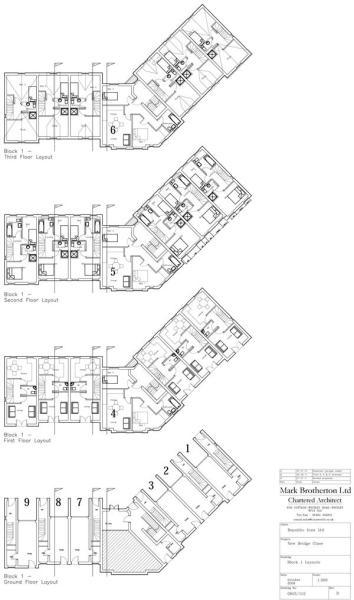Block 1 Floorplans