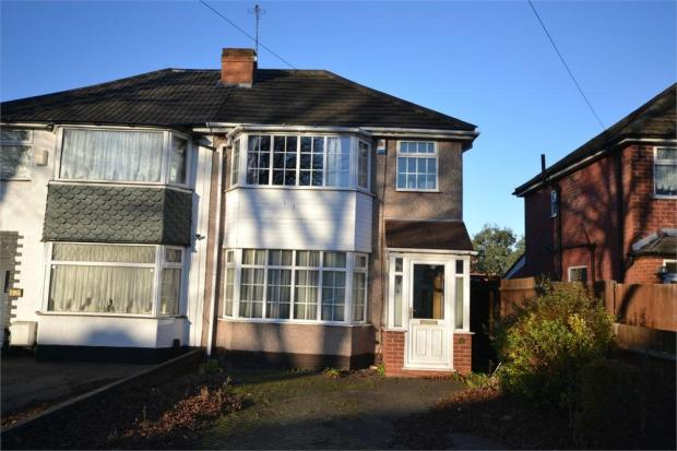 3 bedroom semi detached house for sale in cranes park road for Mitchell s fish market birmingham