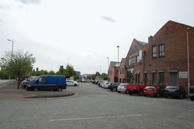 Car park at front