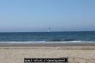 beach infront of dev