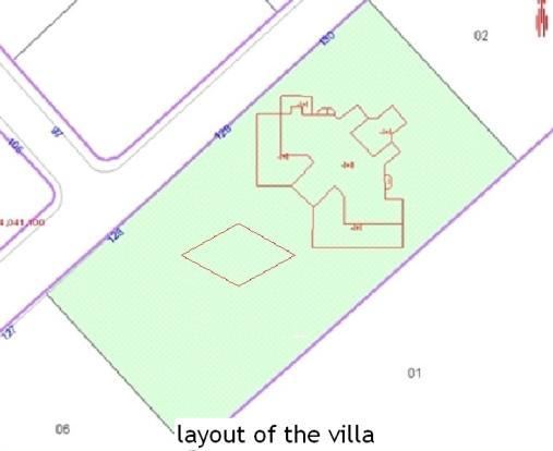 layout of the villa