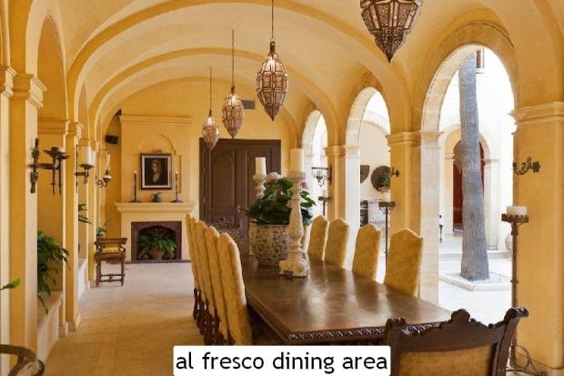 al fresco dining are