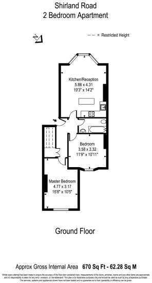 Shirland Road 2 Bedroom Apartment