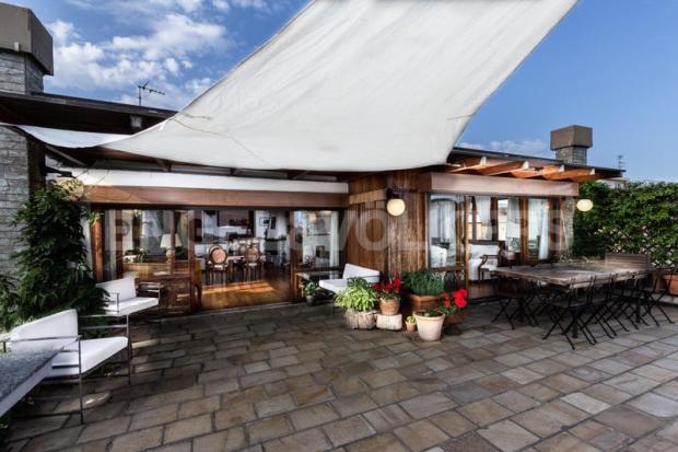 Arenzano Pineta - Penthouse, Blick auf die Wohnung von der Terrasse